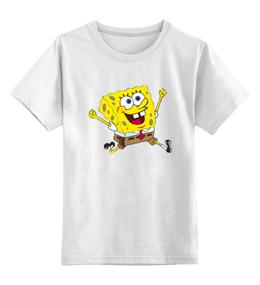"""Детская футболка классическая унисекс """"Спанч Боб"""" - арт"""