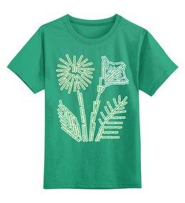 """Детская футболка классическая унисекс """"Любовь к Родине начинается с любви к природе"""" - цветы, россия, природа, растения, слова"""