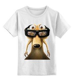 """Детская футболка классическая унисекс """"Скрэт"""" - арт, популярные, в подарок, креативно"""