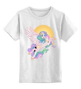 """Детская футболка классическая унисекс """"Единорог"""" - лошадь, пони, unicorn, единорог, пони луна"""