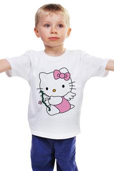 """Детская футболка """"КОШКА КИТИ.ИГРУШКА. МУЛЬТ. KITTY."""" - любовь, кошка, kitty, мульт, кити"""