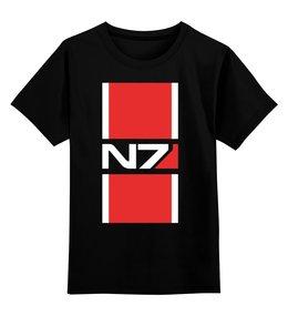 """Детская футболка классическая унисекс """"N7 (Mass Effect)"""" - бойцов высшей квалификации n7, mass effect, масс эффект, n7"""