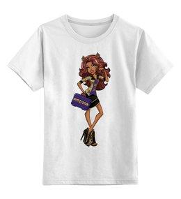 """Детская футболка классическая унисекс """"Монстер хай"""" - для девочки, школа монстров"""