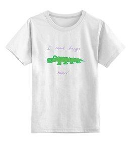 """Детская футболка классическая унисекс """"крокодил"""" - авторские майки, животные, рисунок, крокодил"""