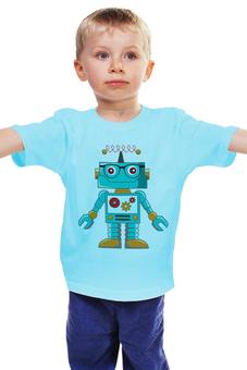 """Детская футболка классическая унисекс """"Робот"""" - робот, киборг, детский рисунок"""