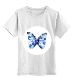 """Детская футболка классическая унисекс """"Бабочка"""" - бабочка, дизайн, иллюстрация, животное"""