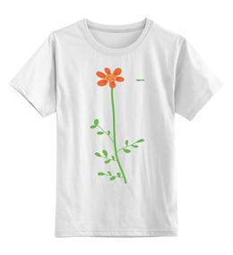 """Детская футболка классическая унисекс """"Цветок"""" - арт, цветок, стиль"""