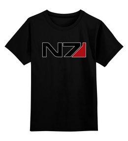 """Детская футболка классическая унисекс """"N7 - Mass Effect"""" - n7, mass effect, масс эффект, игры, playstation"""