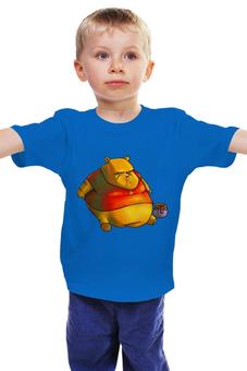 """Детская футболка классическая унисекс """"Медвежонок """" - горшочек с мёдом, смешной медвежонок"""