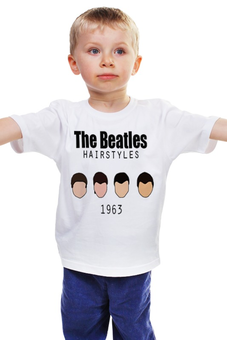"""Детская футболка """"The Beatles 1963 """" - rock, england, великолепная четвёрка"""