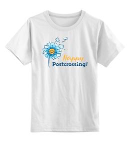 """Детская футболка классическая унисекс """"I love Postcrossing"""" - i love, postcrossing, посткроссинг, почтовые открытки"""