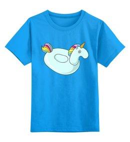 """Детская футболка классическая унисекс """"Единорог"""" - пони, лето, лошадь, лошадка, надувная игрушка"""