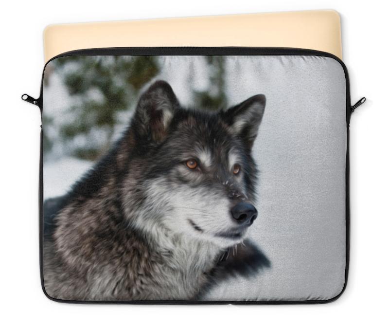 Чехол для ноутбука 12 Printio Серый волк чехол для ноутбука 12 printio волк в лесу
