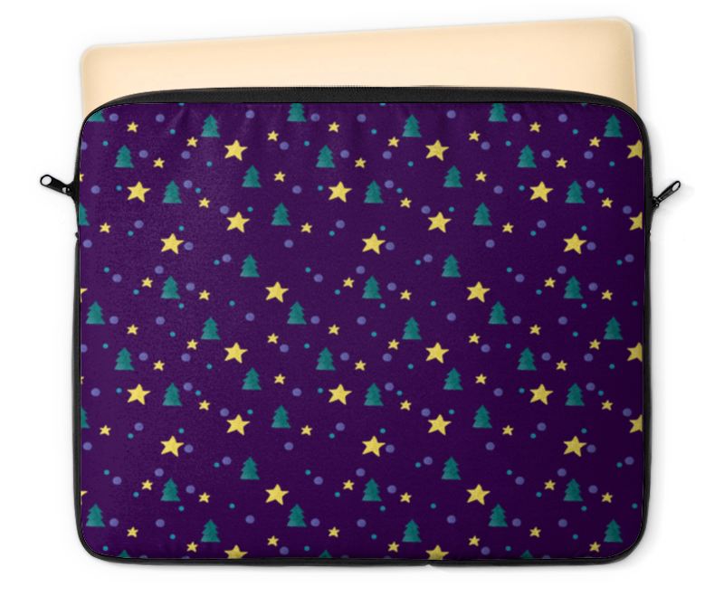 Чехол для ноутбука 12 Printio Елки и звезды нашествие дни и ночи