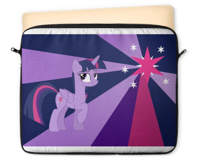 Чехол для ноутбука 12 Printio Twilight sparkle color line часы круглые из дерева printio twilight sparkle color line