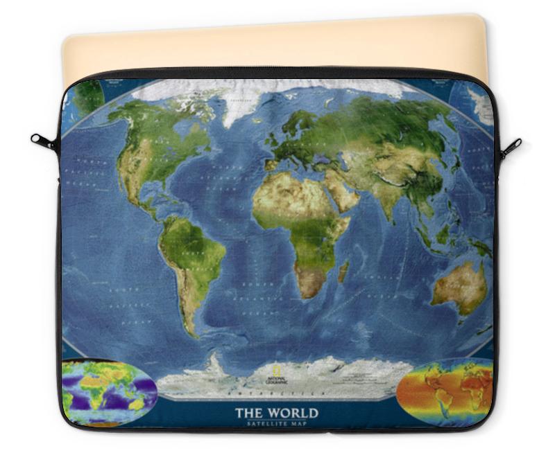 Чехол для ноутбука 12 Printio Карта мира goldfish карта goldfish съемная бумага для кухни насосной полотенца пакет 75 насосных 3