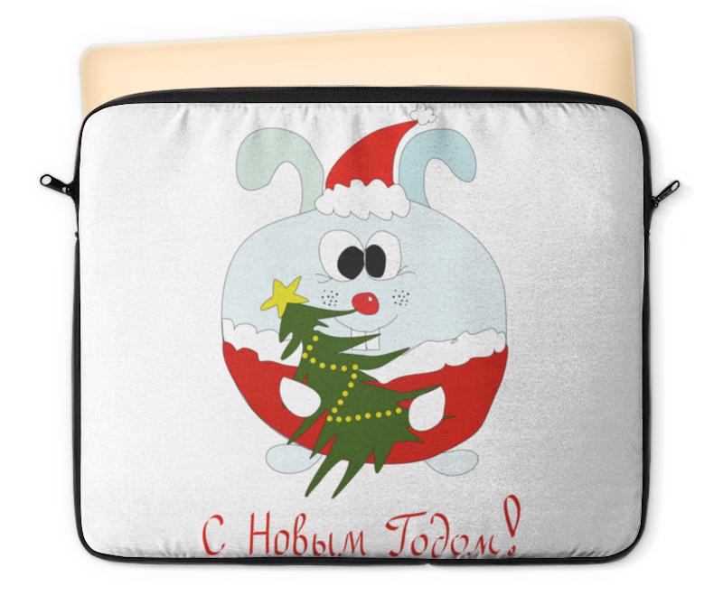 Чехол для ноутбука 12 Printio Новогодний заяц сладкий новогодний подарок почта деда мороза 2 600 г