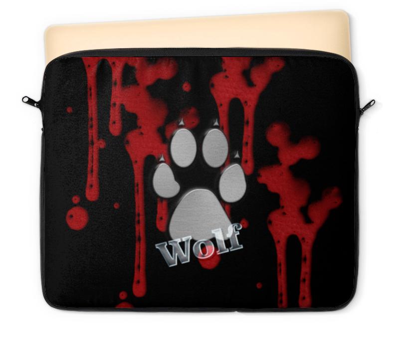 Чехол для ноутбука 12 Printio Лапа волка часы круглые из дерева printio лапа волка