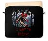 """Чехол для ноутбука 12"""" """"Клоун - i want to believe"""" - хэллоуин, клоун, i want to believe, clown, оно"""