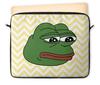 "Чехол для ноутбука 12"" ""Грустная лягушка"" - грустная лягушка, sad frog, pepe frog, мем, meme"