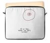 "Чехол для ноутбука 12"" ""CD или титя"" - диск, грудь, cd, не царапать"