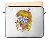 """Чехол для ноутбука 12"""" """"Без ума от цветов"""" - любовь, девушка, цветы, сердца, блондинка"""