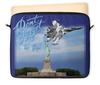"""Чехол для ноутбука 12"""" """"Истребитель Су-57 над Статуей Свободы"""" - свобода, самолет, истребитель, вкс, to fly"""