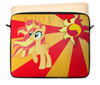 "Чехол для ноутбука 12"" ""Sunset Shimmer Color Line"" - sun, cutiemark, sunset shimmer"