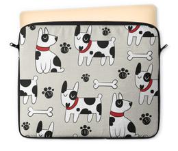 """Чехол для ноутбука 12"""" """"Далматинец"""" - новый год, собака, 2018, год собаки, косточки"""