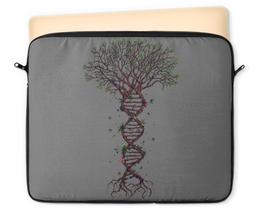 """Чехол для ноутбука 12"""" """"DNA Tree / Древо ДНК"""" - природа, цветы, арт, иллюстрация, деревья"""
