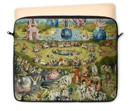 """Чехол для ноутбука 12"""" """"Сад земных наслаждений"""" - картина, сад, искусство, босх"""