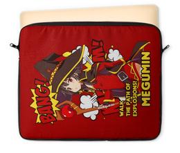 "Чехол для ноутбука 12"" ""Мегумин"" - аниме, манга, konosuba, коносуба, коносуба мегумин"