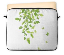 """Чехол для ноутбука 12"""" """"Лето. Summer"""" - бабочки, лето, листья, дизайн, графика"""