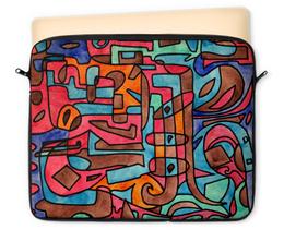 """Чехол для ноутбука 12"""" """"KL-''''Y4V4"""" - арт, узор, абстракция, фигуры, текстура"""