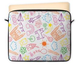"""Чехол для ноутбука 12"""" """"Детский"""" - узор, стиль, рисунок, детский, орнамент"""