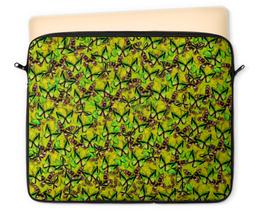 """Чехол для ноутбука 12"""" """"Ornithoptera"""" - бабочки, природа, текстура, фон"""