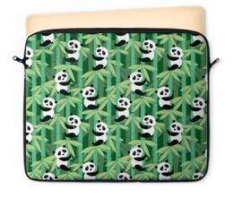 """Чехол для ноутбука 12"""" """"Жизнь панд"""" - узор, животные, панда, лес, бамбук"""