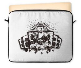"Чехол для ноутбука 12"" ""Будда (Акустика)"" - музыка, волны, будда, буддизм, акустика"
