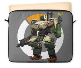 "Чехол для ноутбука 12"" ""Overwatch Bastion / Овервотч Бастион"" - игры, overwatch, овервотч, bastion, бастион"
