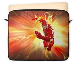 "Чехол для ноутбука 12"" ""Флэш (Flash)"" - flash, комиксы, dc comics, флэш"