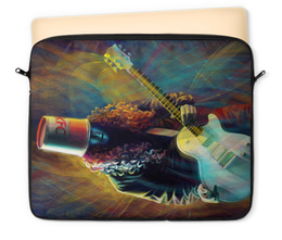 "Чехол для ноутбука 12"" ""Buckethead - Бакетхед "" - гитара, музыкант, гитарист, бакетхед, buckethead"