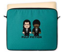 """Чехол для ноутбука 12"""" """"Pulp Fiction"""" - тарантино, криминальное чтиво, джон траволта, сэмюэл лерой джексон, культовое кино"""