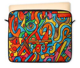 """Чехол для ноутбука 12"""" """"CC2='9990999"""" - арт, узор, абстракция, фигуры, текстура"""
