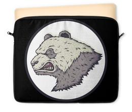"""Чехол для ноутбука 12"""" """"Angry PANDA / Злая Панда"""" - панда, panda, angry panda, злая панда, животные"""