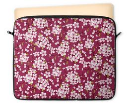 "Чехол для ноутбука 12"" ""Цветущая вишня"" - красиво, природа, цветочки, цветущая вишня, красивые цветы"