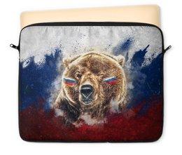 "Чехол для ноутбука 12"" ""Русский Медведь"" - флаг, триколор, россия, футбол, медведь"