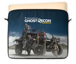 """Чехол для ноутбука 12"""" """"Tom Clancys Ghost Recon Wildlands"""" - tom clancy, tom clancys ghost recon wildlands, ghost recon, игры, для геймеров"""
