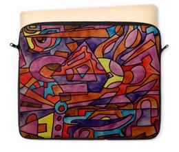 """Чехол для ноутбука 12"""" """"DZ,P9////O`FV"""" - арт, узор, абстракция, фигуры, текстура"""