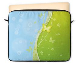 """Чехол для ноутбука 12"""" """"Летний мотив"""" - трава, мыльные пузыри, бабочки, лето, небо"""