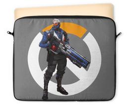"""Чехол для ноутбука 12"""" """"Overwatch Soldier 76 / Овервотч Солдат 76"""" - игры, overwatch, овервотч, солдат 76, soldier 76"""